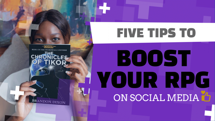 Banner for 5 Tips to Boost your RPG on Social Media