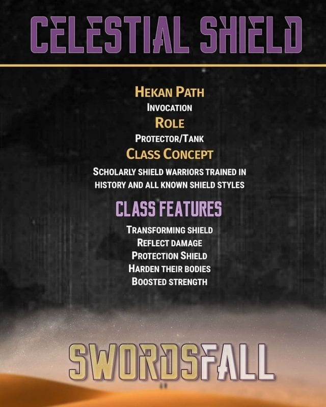 Celestial shield promo web - Swordsfall: The RPG - How Do Professions Work?
