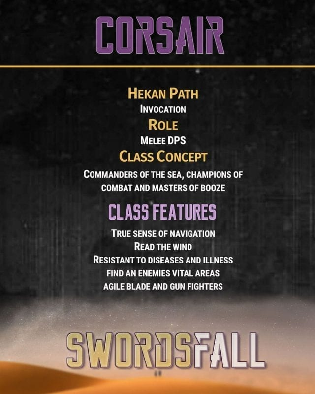 corsair promo - Swordsfall RPG - What's In The Box??