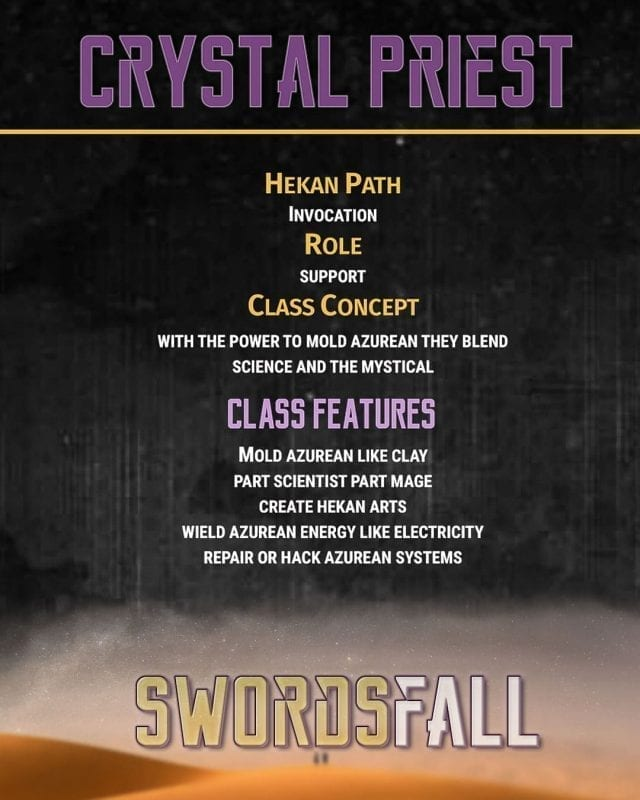 crystalpriest promo - Swordsfall RPG - What's In The Box??