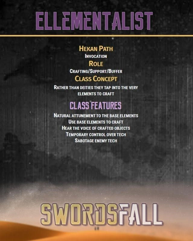 ellementalist promo - Swordsfall RPG - What's In The Box??