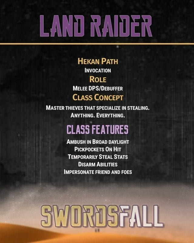 landraider promo - Swordsfall RPG - What's In The Box??