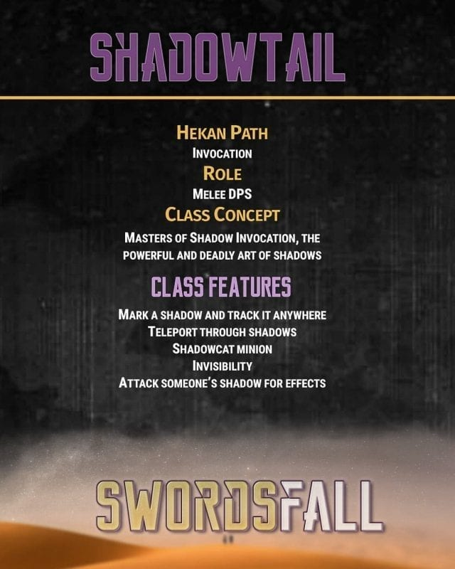 shadowtail promo - Swordsfall RPG - What's In The Box??
