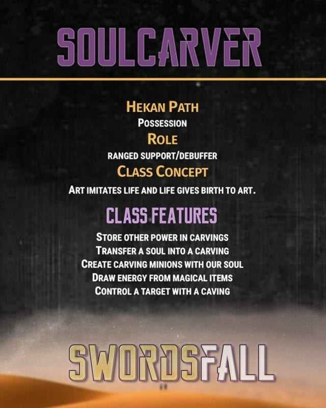 soulcarver promo - Swordsfall RPG - What's In The Box??