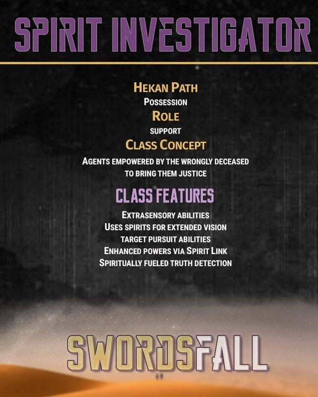 spirit investigator promo - Swordsfall RPG - What's In The Box??