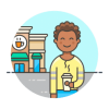 iconfinder 44 drinks 1 coffee shop customer male african american 1 2514520