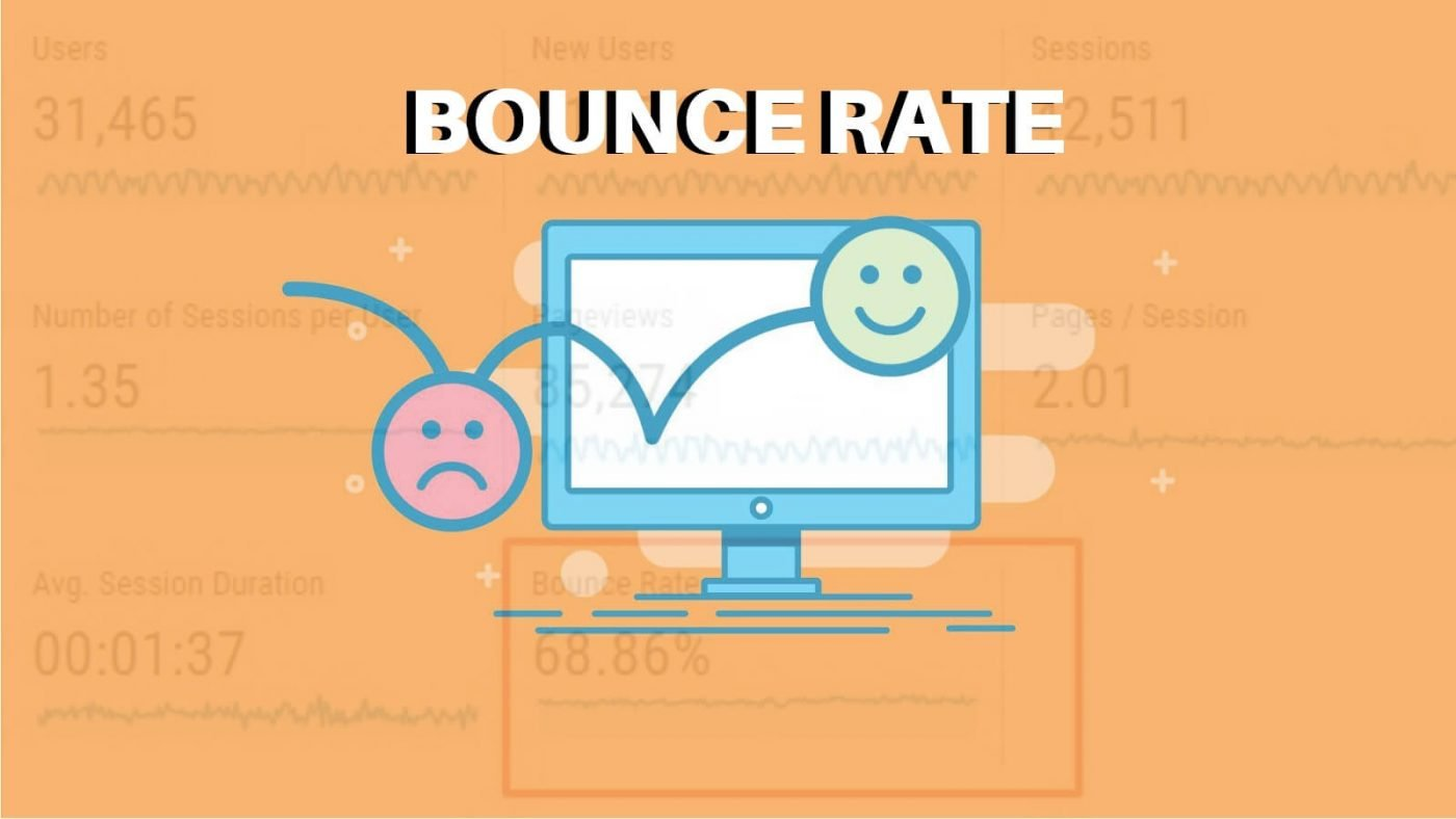 Frown face and smiley face bounce rate