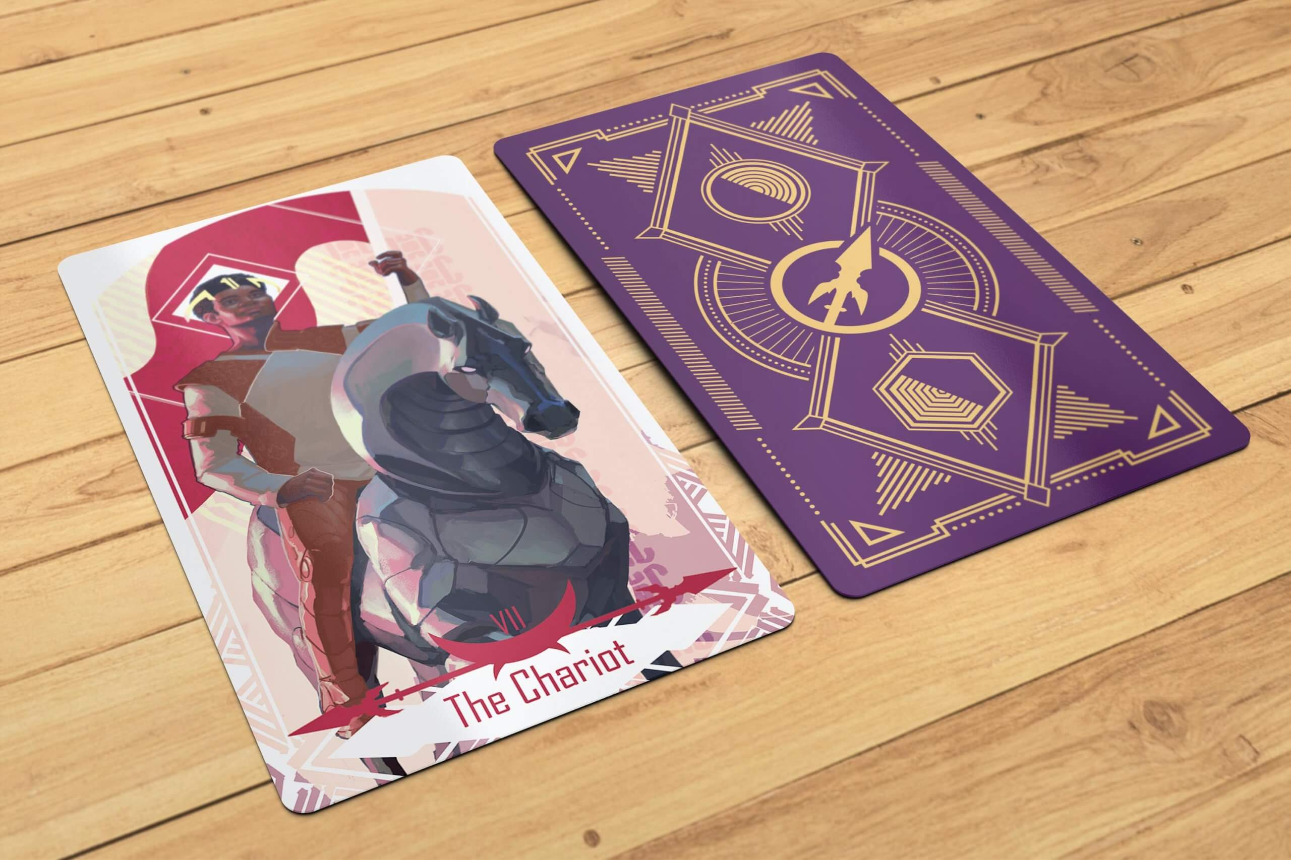 Chariot front and back scaled - Tarot Card | The Chariot
